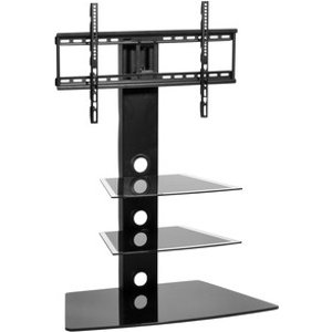Mmt Cb55n Cantilever Black Glass Tv Stand