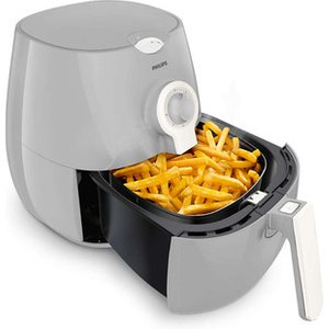 Philips Hd9218 11 Daily Collection Rapid Airfryer Fryer Grey And White