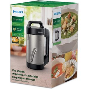 Philips Hr2203 80 Viva Collection Soup Maker Silver And Black