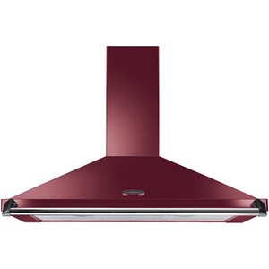 Rangemaster 92850 110cm Classic Cooker Hood In Cranberry With Chrome R