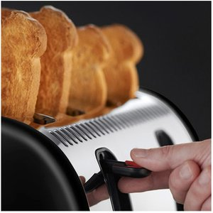 Russell Hobbs 21303 Legacy 4 Slice Side By Side Toaster In Black