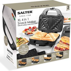 Salter Ek2143four Xl 4 In 1 Snack Maker