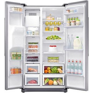 Samsung Rs50n3513s American Fridge Freezer In Silver Ice Water 1 78m A