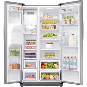 Samsung Rs50n3513sl American Fridge Freezer In Graphite Ice Water 1 8m