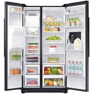 Samsung Rs50n3913bc American Fridge Freezer In Black Ice Water 1 79m A