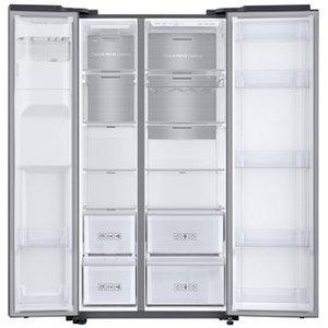 Samsung Rs68n8240s9 American Fridge Freezer In Silver Ice Water 1 78m