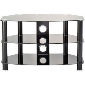 Ttap C303c 6003b Vantage Curve 600mm Tv Stand In Satin Black With Glas