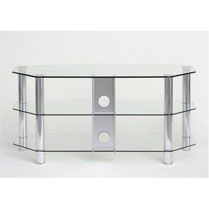 Ttap C303c 800 3c Vantage Curve 800mm Tv Stand In Chrome Clear Glass