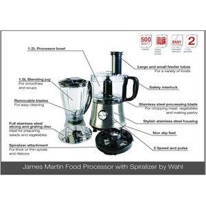 Wahl Zx971 James Martin Food Processor In Silver 500w