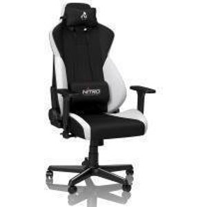 Nitro Concepts S300 Ex Gaming Chair - Radiant White NC S300EX BW Joysticks and Gaming