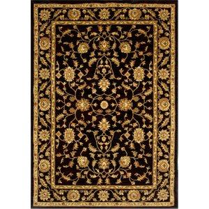 Black Vintage Style Soft Floral Rugs - 7709 Westbury - 190 Cm X 280 Cm (6'3 X 9'3)  L 7709 Black Westbury Flooring & Carpeting, Black Rugs