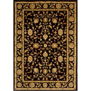 Black Vintage Style Soft Floral Rugs - 7709 Westbury - 150 Cm X 220 Cm (4ft 11 X 7ft 3)  R 7709 Black Westbury Flooring & Carpeting