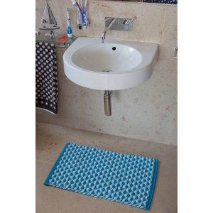 Bobbles Turquoise Bath Mat  Bobbles 9311 TURQUOISE Flooring & Carpeting,