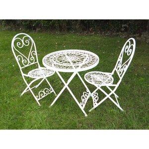 Ascalon Cream Lavenham Bistro Garden Table & Chairs Set  LAVENHAM BISTRO SET 1002 Sheds & Garden Furniture,