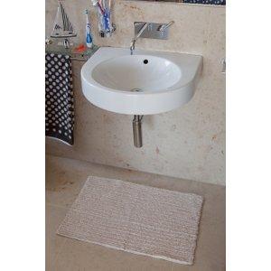 Danube Cream Bath Mat  Danube 9343 CREAM Flooring & Carpeting, Cream Rug