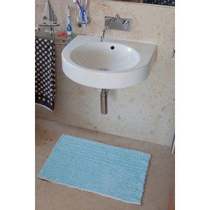 Danube Turquoise Bath Mat  Danube 9343 TURQUOISE Flooring & Carpeting, Blue Rugs