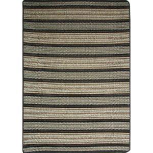 Dark Black Blue And Beige Vintage Striped Flat Weave Rugs - Panama 015 05 80 Cm X 140 Cm (2ft7 X 4  Panama 015 05 S Flooring & Carpeting, Black Rugs