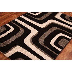 Esprit Grey Black Rugs Circles Rug 02 Graphite - 120cmx170cm  M Esprit 02 Graphite Flooring & Carpeting,