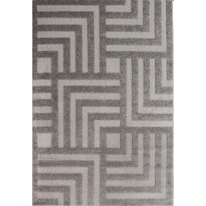 Graphite Grey Geometric Maze Living Room Rugs - Savoy 80x150  S Savoy Deco Grey 8079 Flooring & Carpeting, Grey Rugs