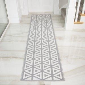 Graphite Grey Moroccan Tiles Geometric Rugs - Milan 60x240  RR 2818 H55 Milan 5635 Flooring & Carpeting, Grey Rugs