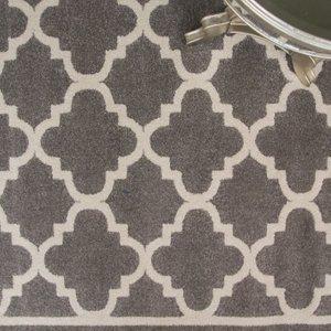 Graphite Grey Trellis Rug Havana - 80cm X 150cm  S Havana CPP04 GRAPHITE Flooring & Carpeting, Grey Rugs