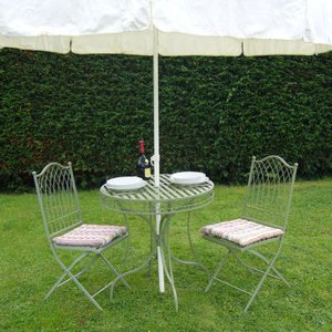 Ascalon Green Hampton Bistro Garden Table & Chairs Set  HAMPTON BISTRO SET 1003 Sheds & Garden Furniture,