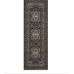 Kensington Vintage Brown Design Rug 60x225  RR Kensington 200 Brown 60X225 Flooring & Carpeting, Brown Rugs