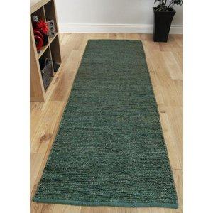 Asiatic Long Teal Blue Jute Runner Rug 66x200  Jute Soumak Runner 66x200cm Teal_AS Flooring & Carpeting, Blue Rugs