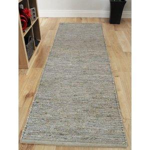 Asiatic Silver Grey Long Jute Hall Runner Rug 66x200  Jute Soumak Runner 66x200cm Silver_AS Flooring & Carpeting, Grey Rugs