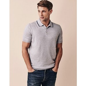 Crew Clothing Aldford Knitted Short Sleeve Polo Shirt 1180957