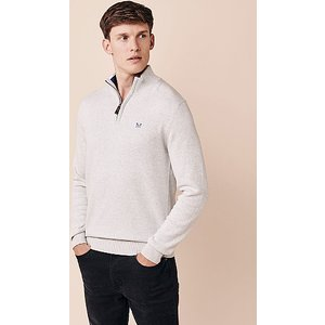 Crew Clothing Classic Half Zip Knitted Jumper 1174276