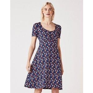 Crew Clothing Iris Jersey Printed Tea Dress 1191160
