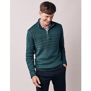Crew Clothing Ottoman Stripe Half Zip Jumper 1184360 Clothing Accessories