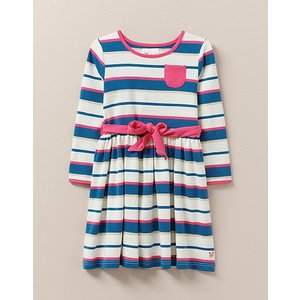 Crew Clothing Striped Jersey Dress With Sash 1204186 Womens Clothing