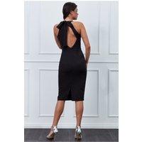Goddiva Vicky Pattison – Bow Back Midi Dress - Black Womens Clothing
