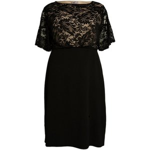 **aarya Black Lace Dress, Black 552019000480162 Ev72a12ablk, Black