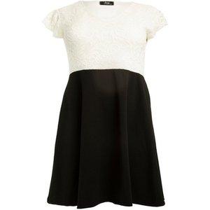 **aarya White Lace Dress, White 552019000479210 Ev72a02awht, White
