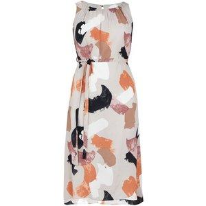 Evans Boutique Ivory Abstract Print Dress, Ivory 552019000460911 Ev04e64eivr, Ivory