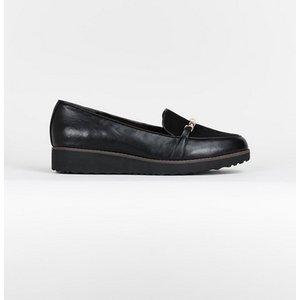 Evans Extra Wide Fit Black Bamboo Loafers, Black 552020000497417 Ev20r26gblk, Black