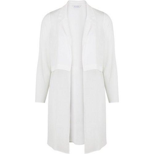 Evans Ivory Collared Kimono, White 552019000466611 Ev08e16jwht, White