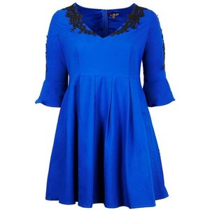**lovedrobe Cobalt Blue Skater Dress, Royal Blue 552018000438315 Ev65p51zble, Royal Blue