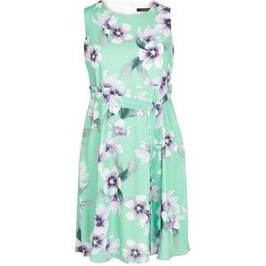 Evans Mint Floral Print Fit And Flare Dress, Mint 552019000465811 Ev04e09jgrn, Mint