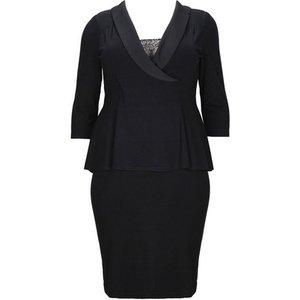 **scarlett & Jo Black Tuxedo Peplum Dress, Black 552017000424661 Ev70a03yblk, Black