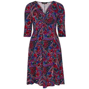 **scarlett & Jo Multi Colour Paisley Print Fit And Flare Dress, Red 552019000477541 Ev70c75zred, Red