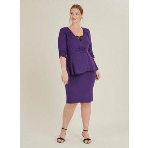 **scarlett & Jo Purple Tuxedo Peplum Dress, Purple 552019000460566 Ev70c41zple, Purple