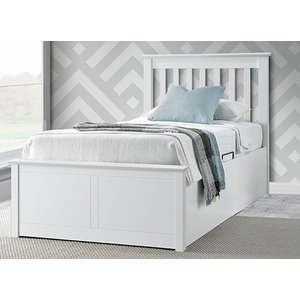 Bedmaster Francis White Ottoman Bed - Single (3' X 6'3) 5056347238632
