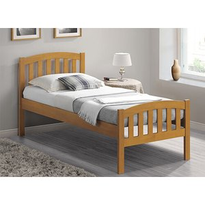 Bedmaster Oak Lyon Bed Frame - Single (3' X 6'3) 5056347248853