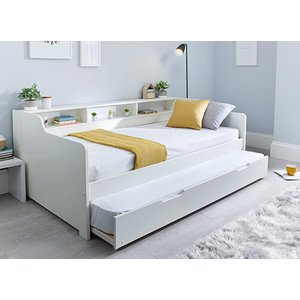 Bedmaster Tyler White Guest Bed - Single (3' X 6'3), With Trundle 5056347239165