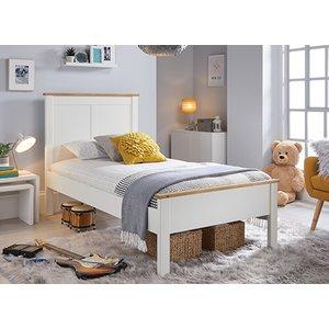 Bedmaster Vigo White Bed - Single (3' X 6'3) 5056347238823 Beds