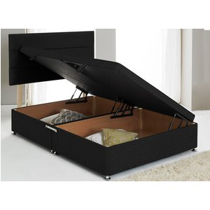 Premium Side Opening Ottoman Divan Base - Small Double (4' X 6'3), Hyder_chenille Mink 5055668790614
